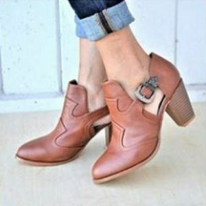 Women's Cut Out Ankle Strap High Heel Booties